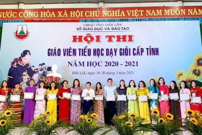 Hội thi GV tiểu học dạy giỏi cấp tỉnh năm học 2020 – 2021.